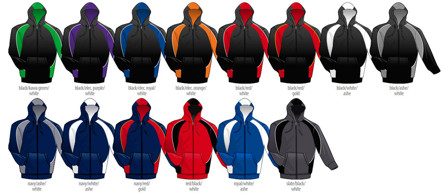 Hoodies for Teams-Colour Card for 2014