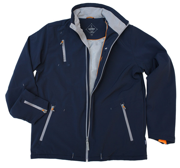 Navy Jacket has orange trims