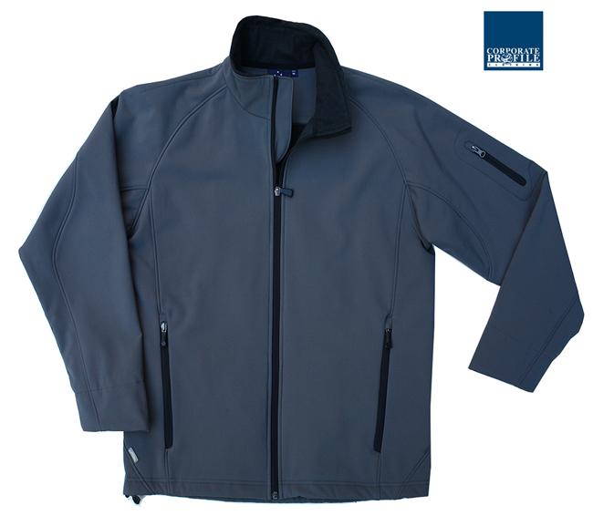 Mod Shell jacket: Charcoal/Black trim