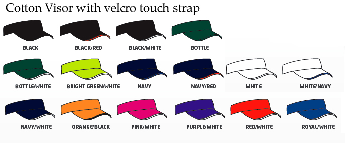 Visor Colour Range