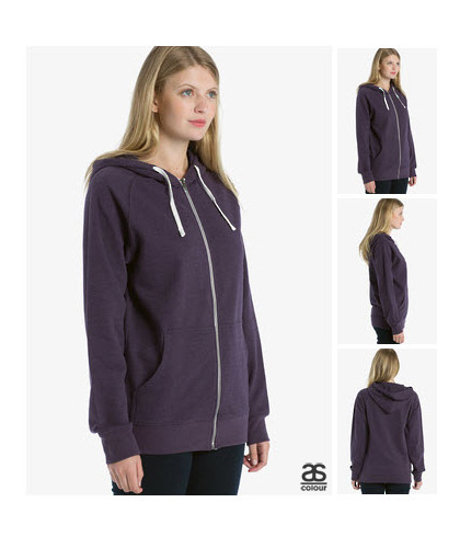 Ladies Traction Zip Hoodie 5107 with white drawcord