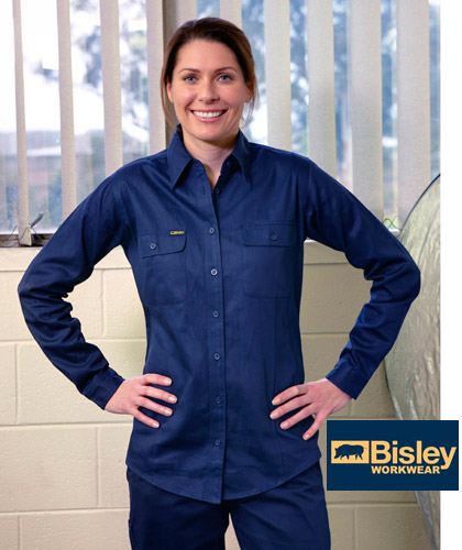 Womens cotton drill work shirts