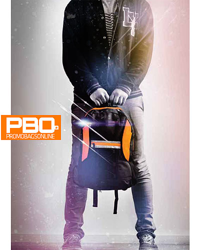 PBO Spectrum Back Pack with Reflective Strip