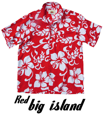 Red and White Hawaiian Shirts