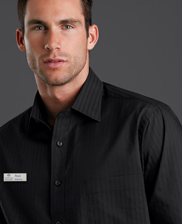 Jk Black Business Shirts with Styled Self Stripe