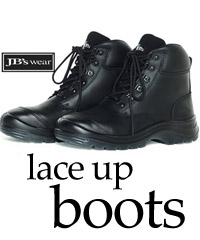 Black Lace Up Work Boots especially for Mining, Mechanics, Industrial. Also suitable for Women