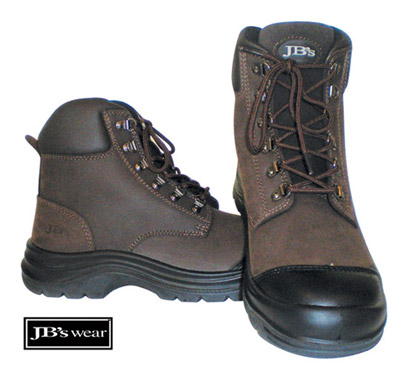 Brown Lace Up Work Boots especially for Mining, Mechanics, Industrial
