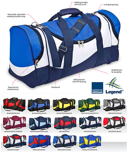 Kids Sports Bags in School and Club Colours