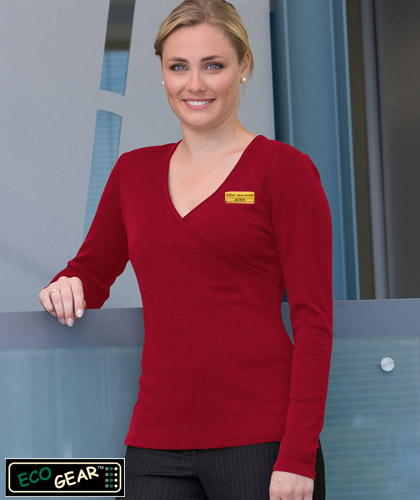 ECO Gear Womens Merino Wool Crossover Top