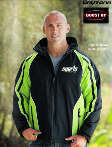 Boost Up: Lime and Black Sports Jackets-
