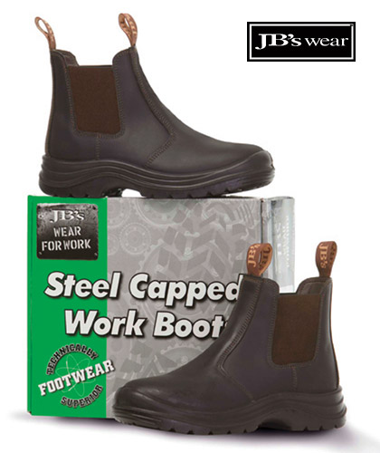 Elastic Sided Work Boots for Easy Pull On/Off