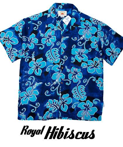 Royal Hawaiian Shirts- Hibiscus Royal Blue