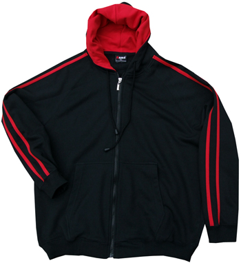 Black & Red Hoodies with Sporty SLEEVE STRIPES
