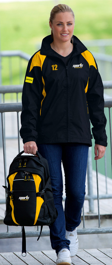 Intensity Spray Jackets-Black and Gold