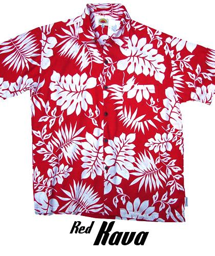 Red Hawaiian Shirts- Red Kava