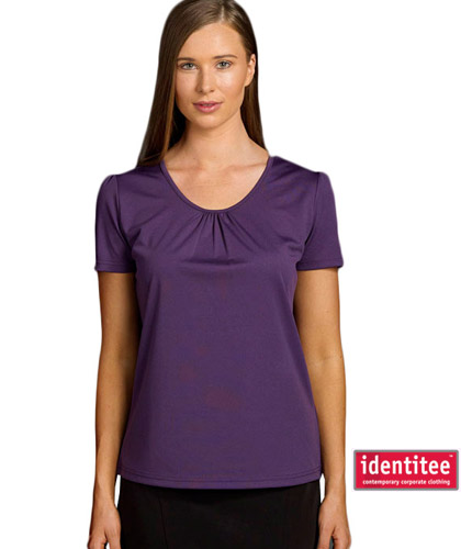 Ladies Tops with Gathered Front and Sleeve details