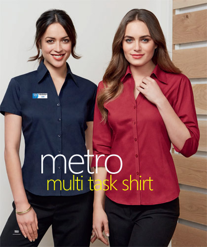 Biz Collection Metro Shirts-The ultimate multi tasking uniform shirt