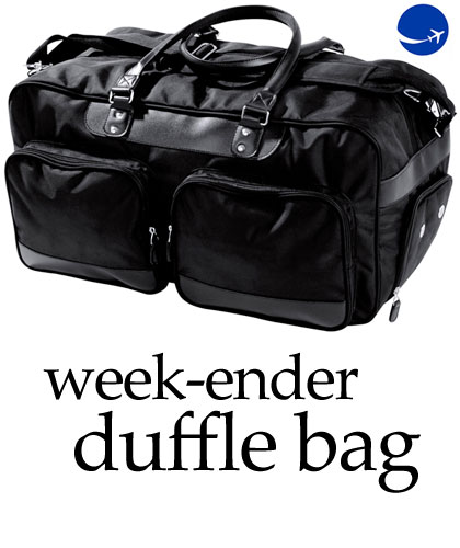 58cm Upmarket Weekender Duffle Bag with Leatherette Trim