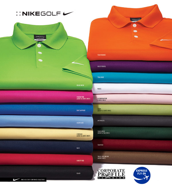 Nike Golf Polo Shirts #363807 with Swoosh on Sleeve. Your logo on the chest.