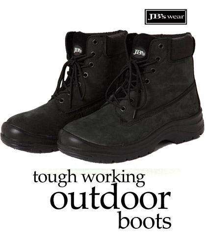 Outdoor Work Boots for Heavy Duty Work Environments-Black