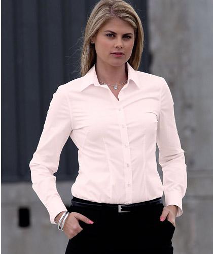 Pink Blush Long Sleeve Stretch Shirts