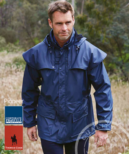 Pioneer Short Raincoat With Logo Service For Agri Business - A Lighter Alternative to an Oilskin Coat