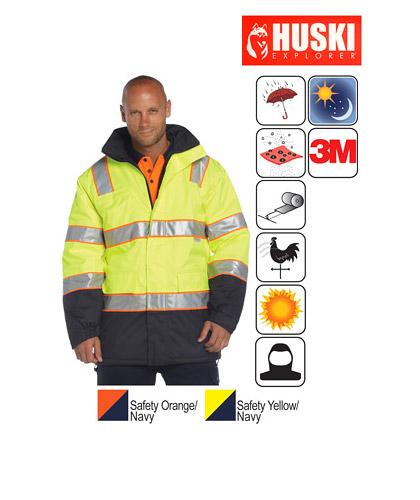 Huski Prospector Waterproof Hi Vis Jacket