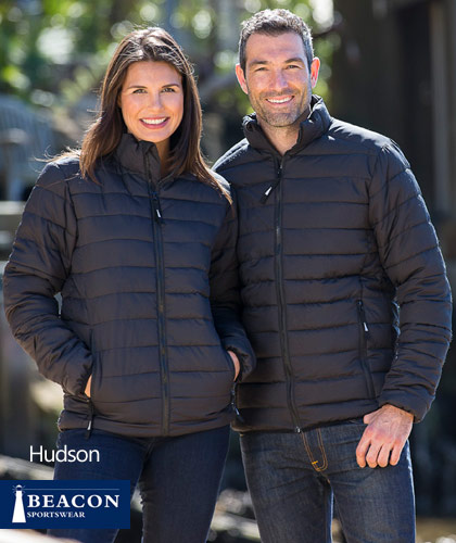 Corporate Puffer Jackets with Logo Embroidery Service #Hudson