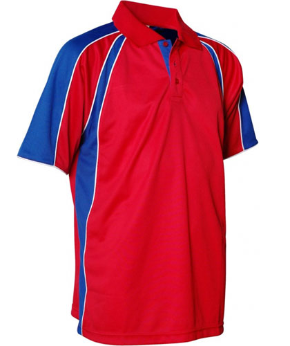 Red With Royal And White Polo Shirts