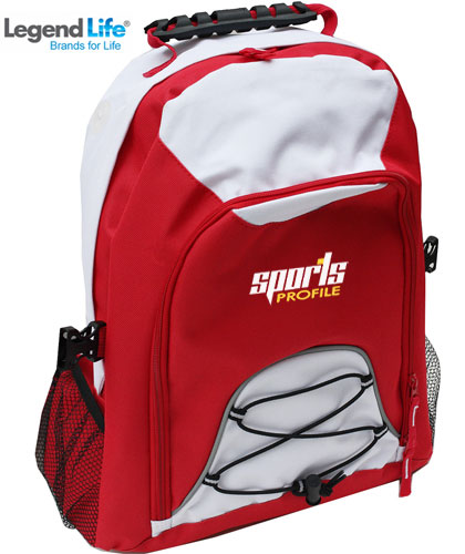 Students Red and White Backpacks