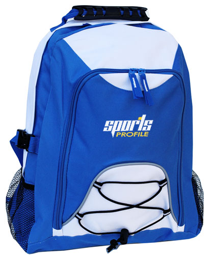 Students Royal Blue and White Backpacks
