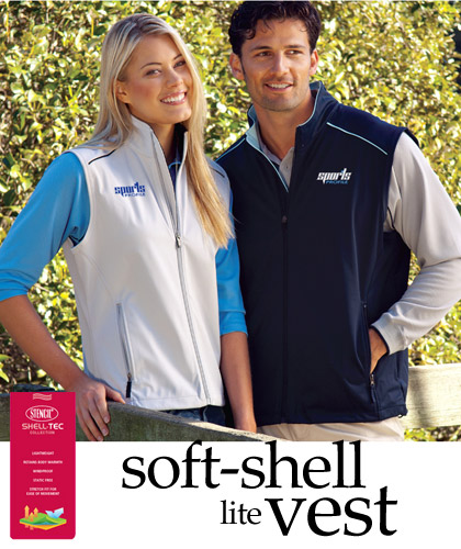 Silver Sports Vests in Lightweight, Soft Shell Fabric