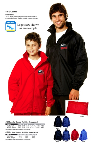Student Spray Jackets