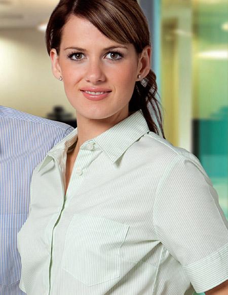 Benchmark: Lime Green Slim Stripe Business Shirts