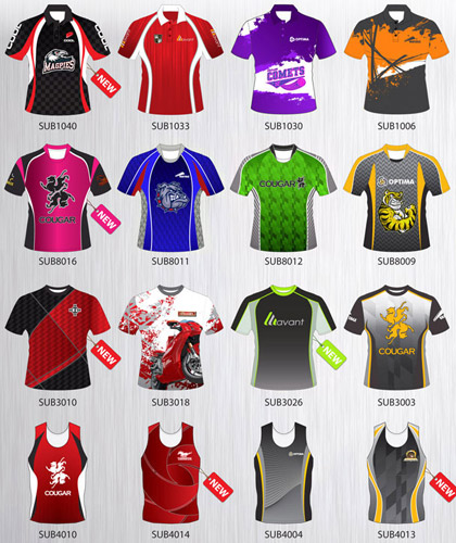 Grace Collection-Clever Pre-Designed Sports Shirts, Jerseys, Tees and Singlets