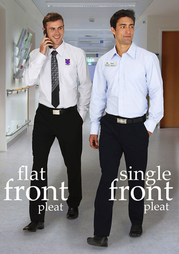 Flat Front 'Biz' Business Trousers