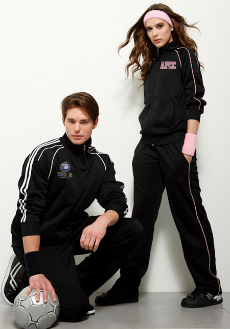 Track Tops-Black with Pink trims