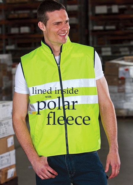 VEST-Polar Fleece Lined with Reflective Tape