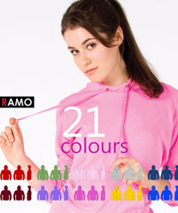 Action Hoodies: Adults & Students in 20 Colours (without Zip)