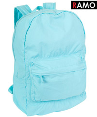 RAMO BackPacks- Lightweight and Soft, Aqua Colour