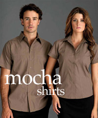 Mocha Shirts: Short and Long sleeves