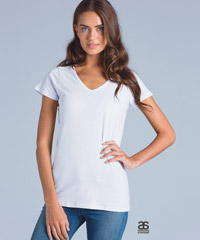 Bevel V-Neck T Shirts