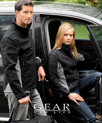 Black and Charcoal Soft Shell Jackets