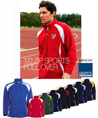 Bocini Burst Polar Fleece Pullovers in Nine Team Colours