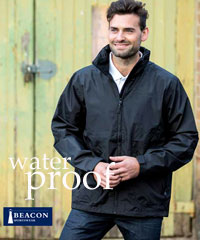 Beacon Sportswear-Waterproof Bodie Jackets with Carry Pouch