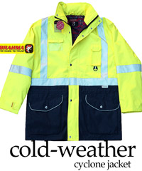 Brahma Cold Weather Cyclone Jacket with Flannel Lining-Waterproof