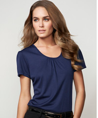 Blue Chic Knit Top-Midnight Blue