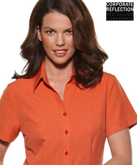 Rust Orange Short Sleeve Shirts- The Climate Smart Collection