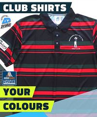 Club Stripe Polo #8296 Custom Order With Team and Sponsor Logo's