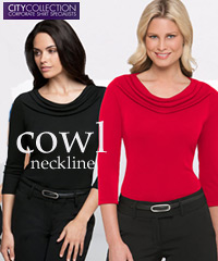 City Collection- Perfectly designed Cowl removes gaping when you lean forward